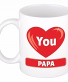 Vaderdag i love you papa beker mok keramiek 300 ml