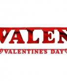 Valentijnsdag wenslijn rood