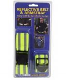 Veiligheid set armband en riem reflecterend