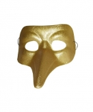 Venitiaanse snavelmasker goud