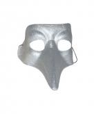 Venitiaanse snavelmasker zilver