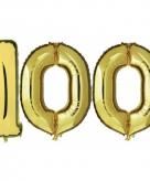 Verjaardag ballonnen 100 jaar goud