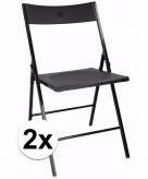 Verjaardag bijzet stoelen zwart 2 stuks