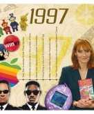 Verjaardag cd kaart met jaartal 1997