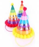 Verjaardag punthoedje voor volwassenen