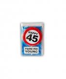 Verjaardagskaart 45 jaar