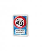 Verjaardagskaart 49 jaar