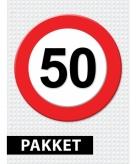 Verkeersbord 50 jaar versiering pakket