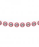 Verkeersborden slingers 25 jaar 12 meter