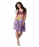 Verkleed paars hawaii hula rokje voor dames