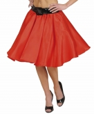 Verkleed rock and roll rok rood voor dames