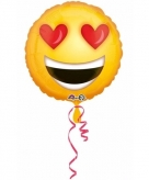Verliefde emoticon folie ballon 43 cm