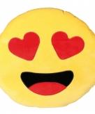 Verliefde emoticon kussentje 50 cm