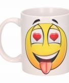 Verliefde hartjesogen emoticon beker mok 300 ml