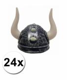 Viking helmen met twee hoorns 24 st