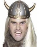 Vikinghelm zilver met gouden hoorns