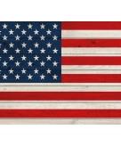 Vintage poster met vlag amerika 84 cm