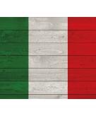Vintage poster met vlag van italie 84 cm