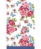 Vintage romantische bruiloft tafelkleden tafellakens roos 138 x 220 cm papier textiel