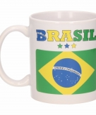 Vlag brazilie beker 300 ml