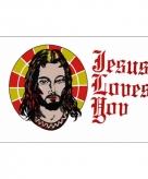 Vlag met jezus afbeelding