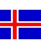 Vlag van ijsland mini formaat 60 x 90 cm