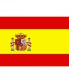 Vlag van spanje mini formaat 60 x 90 cm