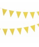 Vlaggenlijn geel met witte stippen 4 meter