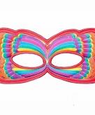 Vlinder oogmasker rood regenboog