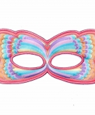 Vlinder oogmasker roze regenboog