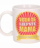 Voor de liefste mama koffiemok beker 300 ml