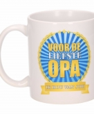 Voor de liefste opa koffiemok beker 300 ml