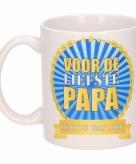Voor de liefste papa koffiemok beker 300 ml