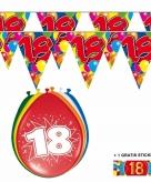 Voordeelset 18 jaar met 2 vlaggenlijnen en ballonnen