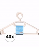 Voordeelset witte kledinghangers 40x