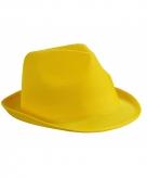 Voordelig hoedje geel polyester