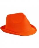 Voordelig hoedje oranje polyester