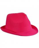 Voordelig hoedje roze polyester