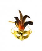 Voordelig oogmasker metallic goud