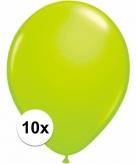 Voordelige groene ballonnen 10 stuks 10091410