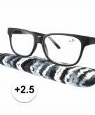 Voordelige leesbril 2 5 zwart