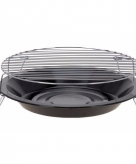Voordelige ronde barbecue zwart 36 cm