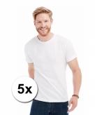 Voordelige witte t-shirts 5 stuks