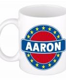 Voornaam aaron koffie thee mok of beker