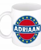 Voornaam adriaan koffie thee mok of beker