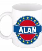 Voornaam alan koffie thee mok of beker