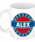 Voornaam alex koffie thee mok of beker