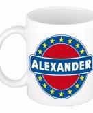 Voornaam alexander koffie thee mok of beker