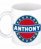 Voornaam anthony koffie thee mok of beker