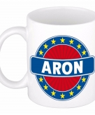 Voornaam aron koffie thee mok of beker